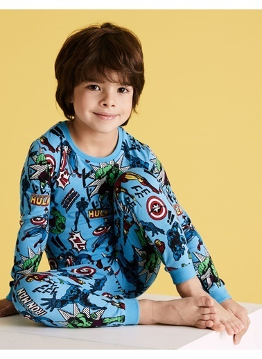 Marks & Spencer Marvel™Desenli Pijama Seti Renkli